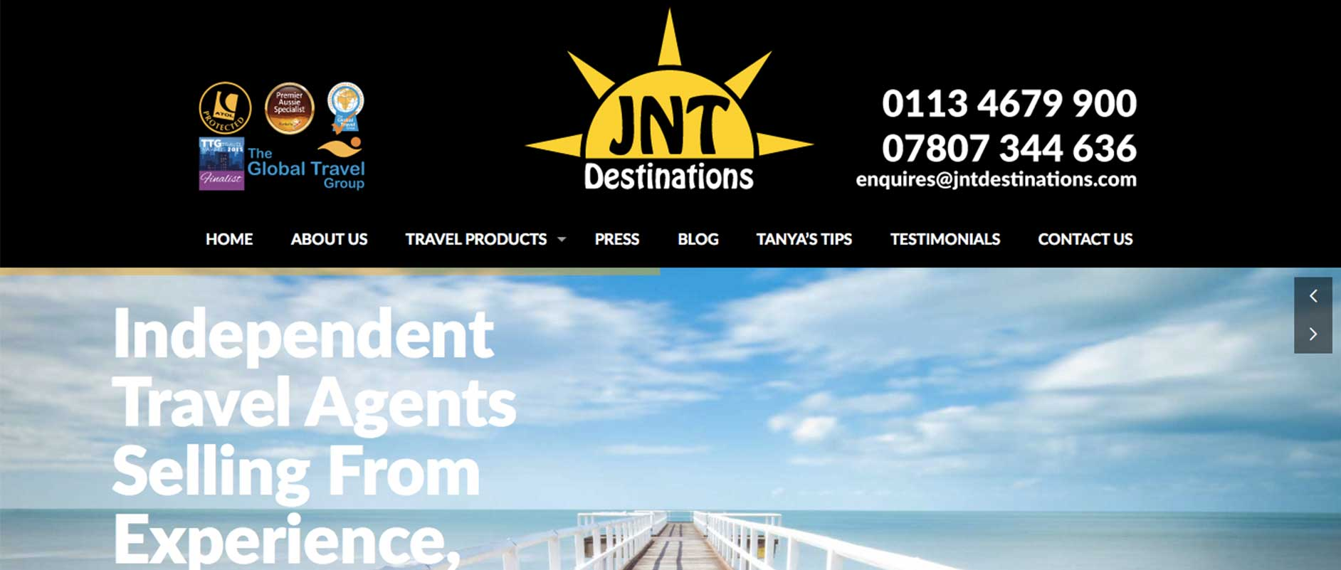 JNT Destinations - Media29 - Affordable Websites & Low
